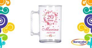 Caneca Acrilica Arabesco Floral 01 - Facebook