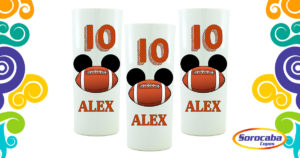 Copo Personalizado Mickey Futebol Americano Mod 01 Sociais