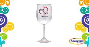 Taça Personalizada de Vinho Casamento 02 Acrilico - Facebook 3