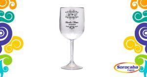 Taça Personalizada de Vinho Casamento 03 Acrilico - Facebook