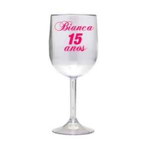 Taça Personalizada de Vinho Nome Acrilico