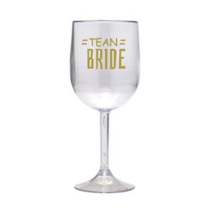Taça Personalizada de Vinho Tean Bride Acrilico
