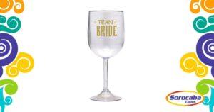 Taça Personalizada de Vinho Tean Bride Acrilico - Facebook
